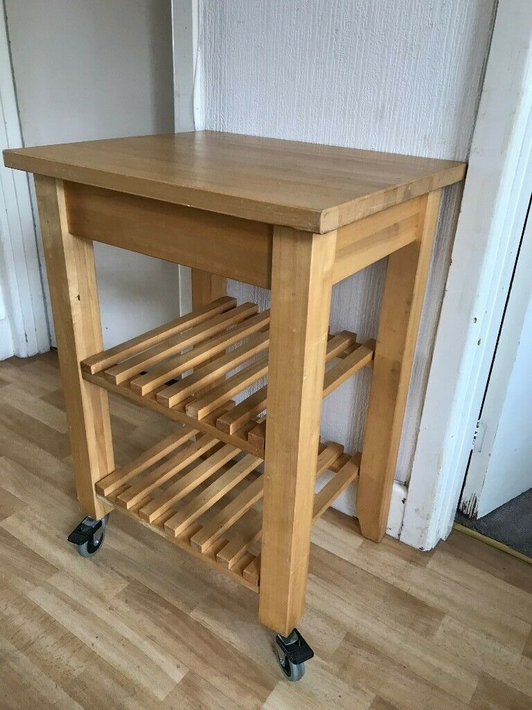 Large Chunky Butcher S Block Kitchen Island On Wheels With Brakes In Exeter Devon Gumtree