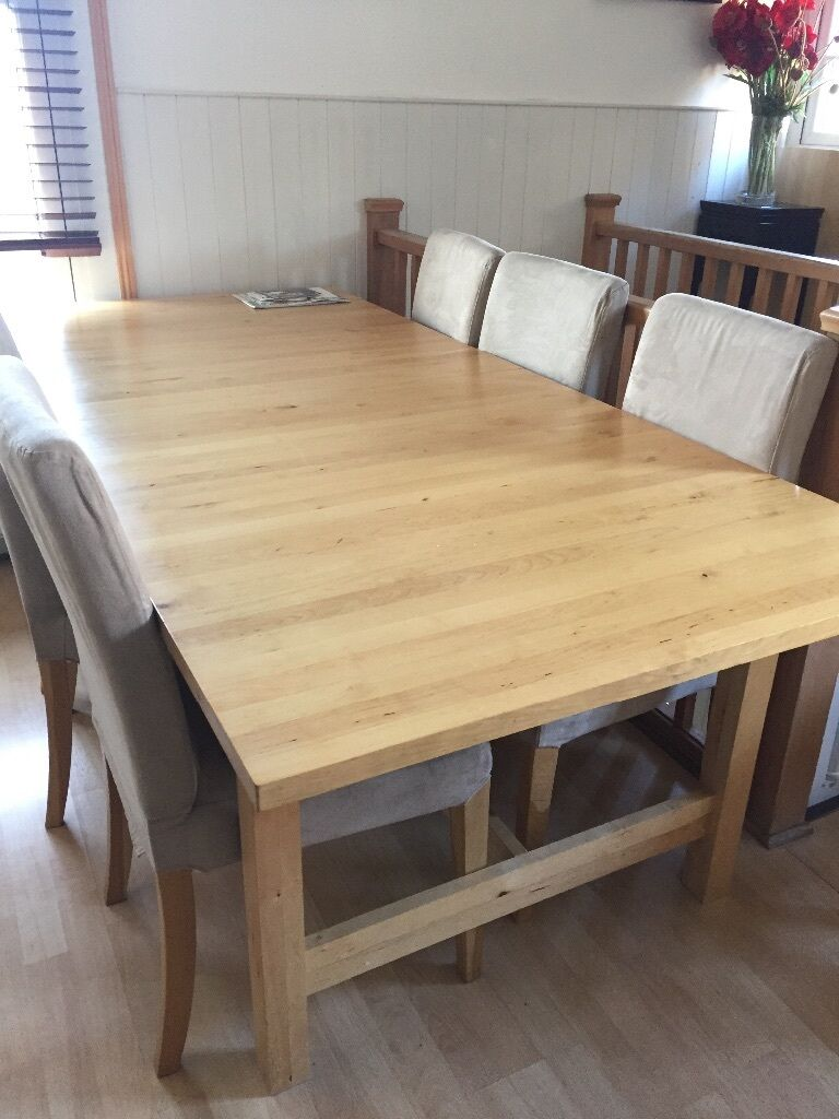 REDUCED TO 60 IKEA NORDEN Extendable Birch Dining Table
