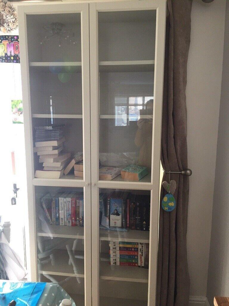 Ikea Billy Bookcase With Doors In Stone In Benfleet Essex Gumtree