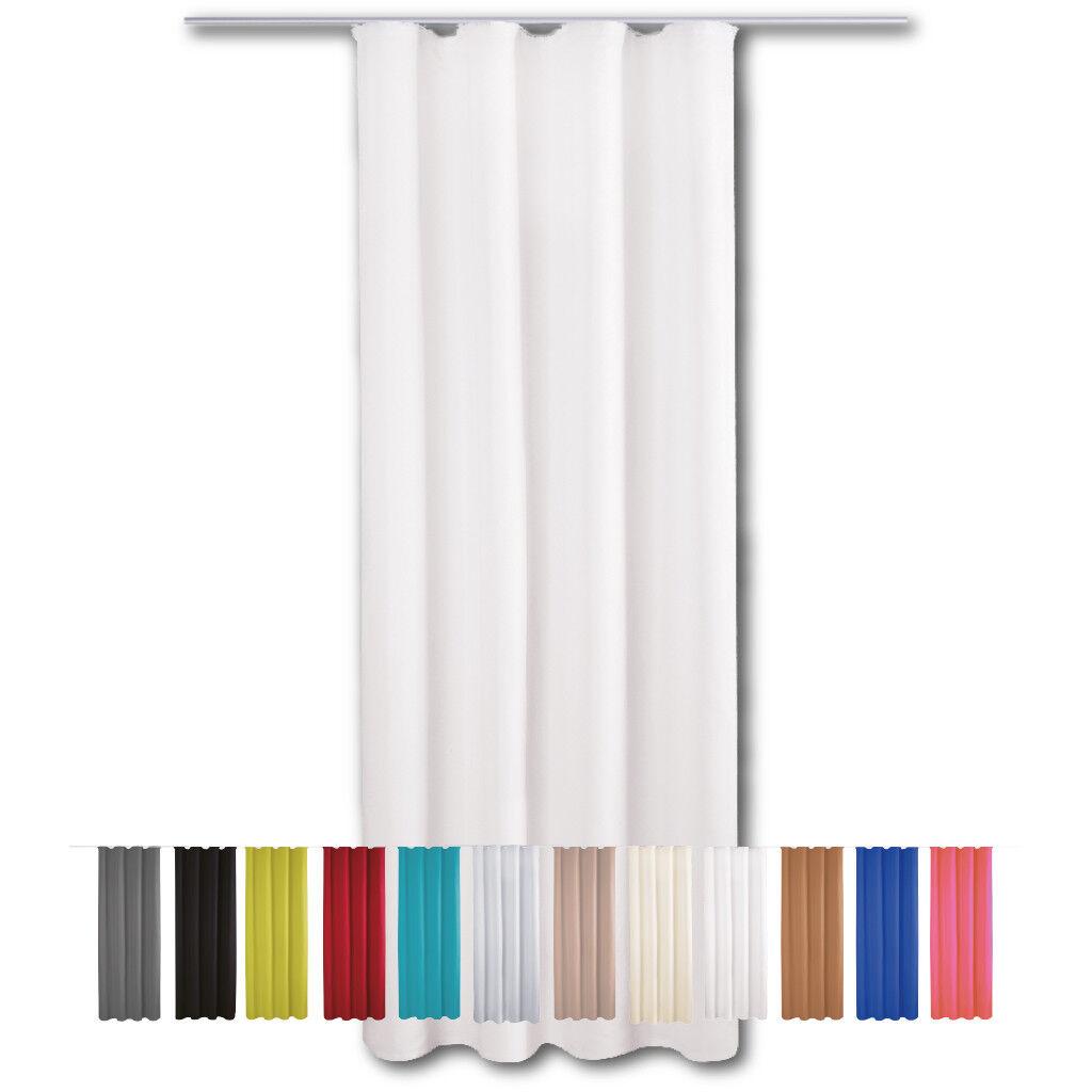 Gardine Vorhang blickdicht Kräuselband Dekoschal Universalband Gardinen Vorhänge