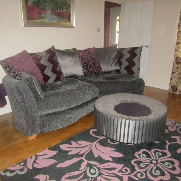 Grey Sofa With Purple Cushions Brokeasshome Com