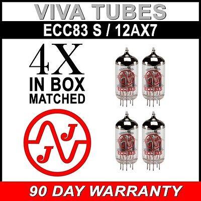 New In Box Gain Matched Quad 4 JJ Electronics Tesla 12AX7 ECC83-S Vacuum Tubes