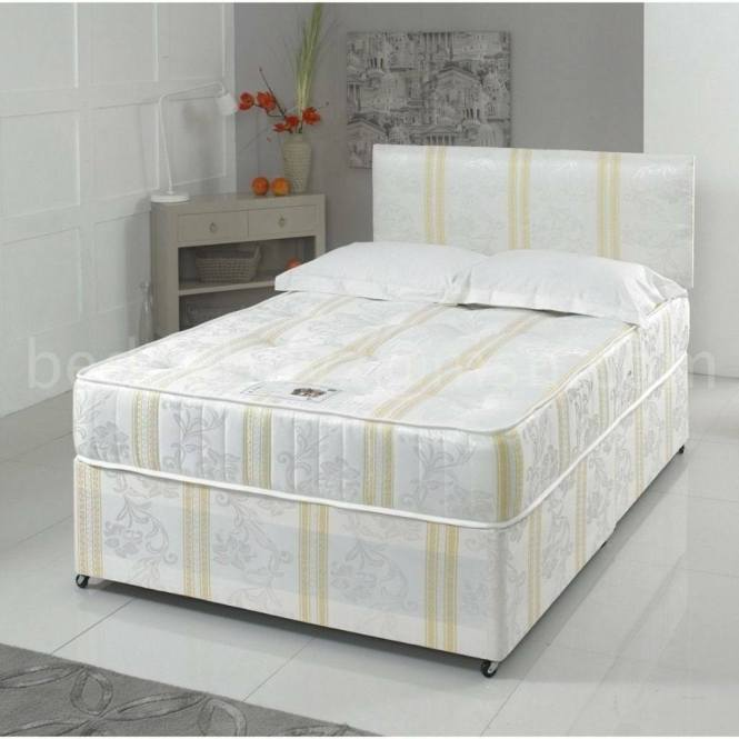 Same Next Day Delivery Brand New Double Or King Size Divan Bed With White