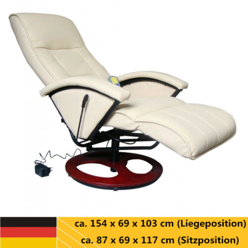 Massagesessel mit Heizfunktion Fernsehsessel Sofa elektrische Relaxsessel Beige