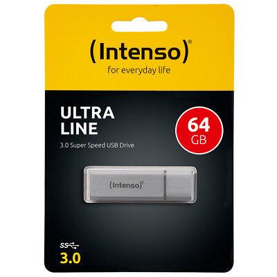 kQ Intenso Ultra Line USB Stick 64GB Highspeed USB 3.0 Alu silber 64 GB