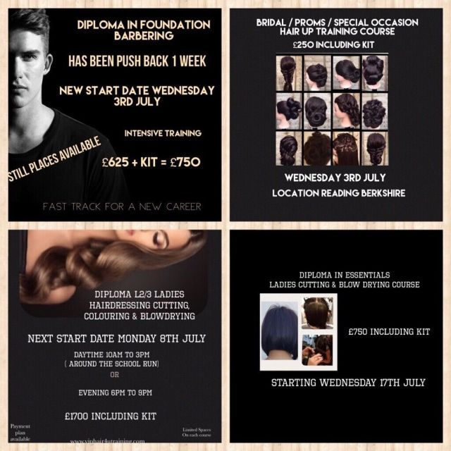 diploma in hairdressing & barbering training courses reading