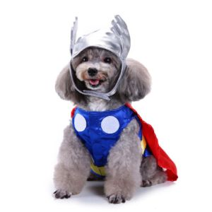 Dog Puppy Halloween Universe Mighty Thor Pet Costume Cosplay