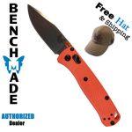 BENCHMADE 533  MINI BUGOUT FOLDING KNIFE ORANGE HANDLE CPM-S30V PLAIN BLADE