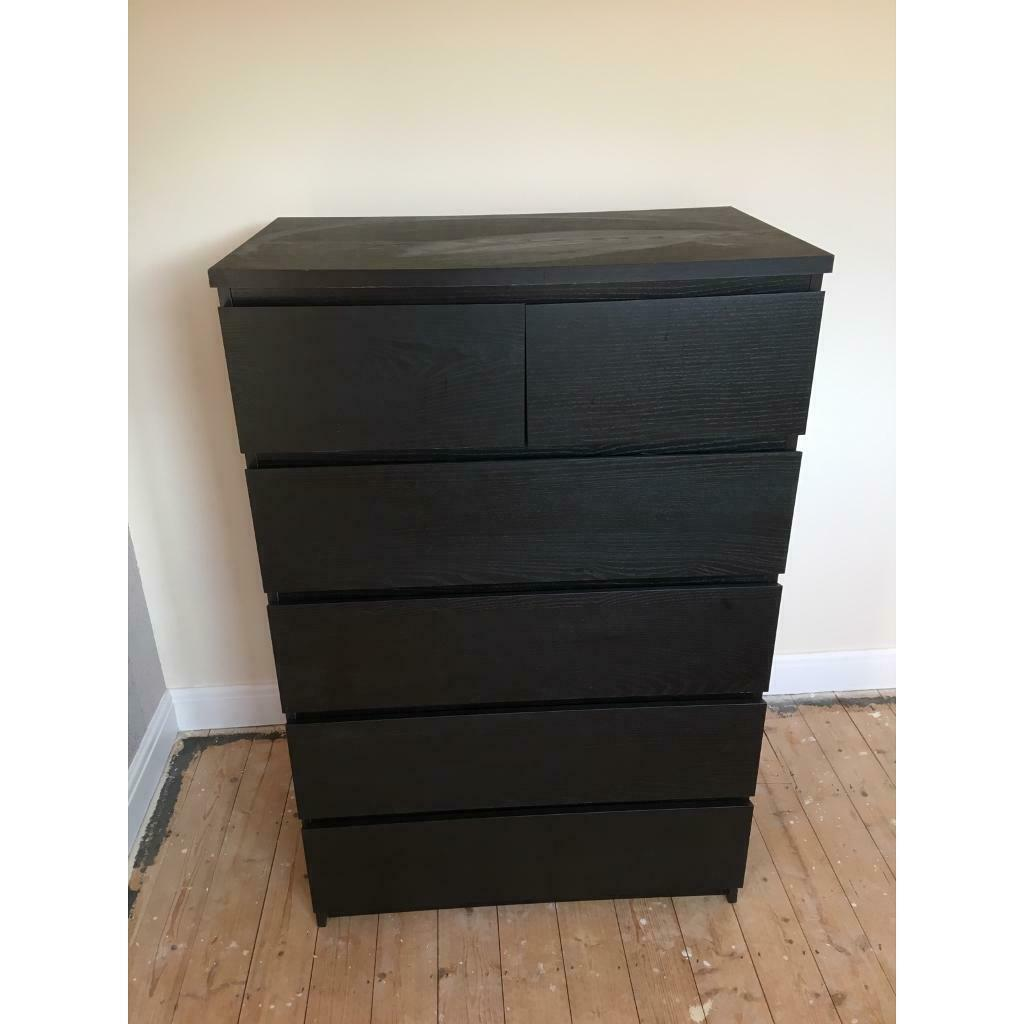 Black Ikea Malm Chest Of Draws In St Mellons Cardiff Gumtree