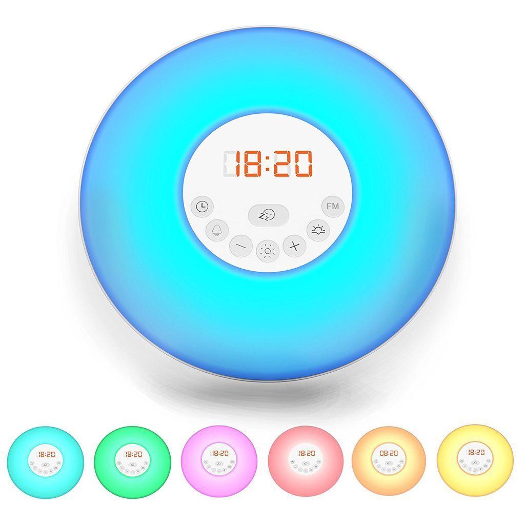 LED Wake up Light Stimungs-Licht-Wecker Kinder-Radiowecker Sonnenaufgangfunktion