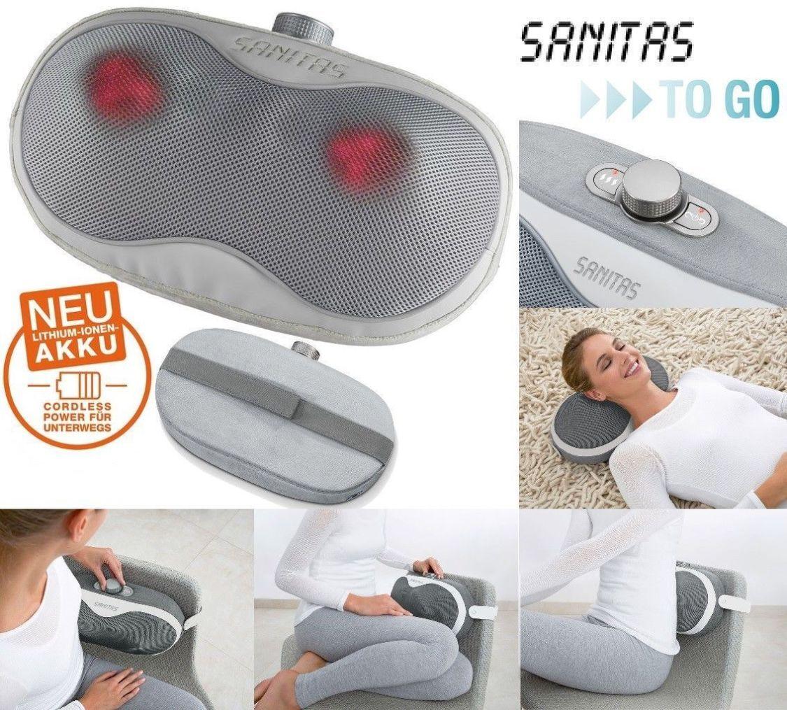 Sanitas Shiatsu Massagekissen SMG 515 Akku Massagegerät Nacken Rücken Massage