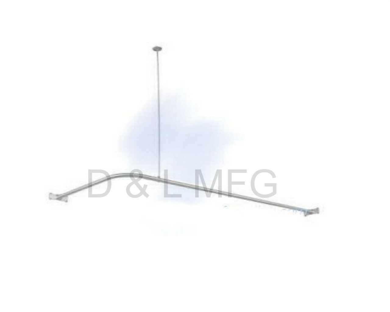 Details About L Shower Curtain Rod For Corner Or Clawfoot Tub 60 Pl