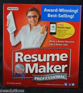 resumemaker 17 professional deluxe resume maker pc software new