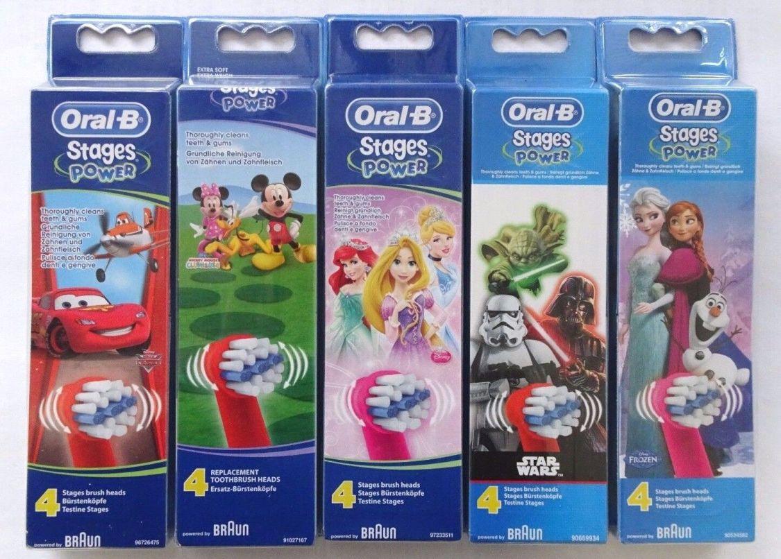 Braun Oral-B Stages Power • Für Kinder 4er Packung • Verschiedene Sorten