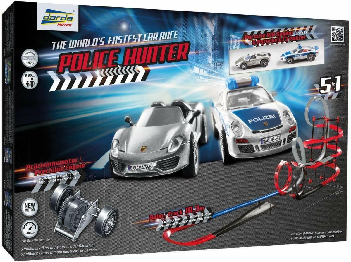 Darda 50249 - Darda Rennbahn Police Hunter, ca. 10,3m mit 2 Porsche GT3 911 NEU