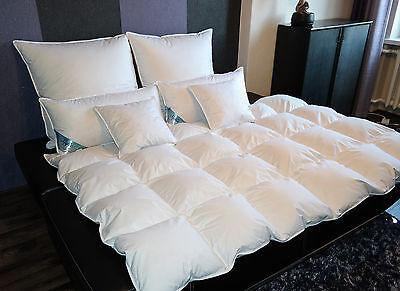Bettdecke Kassetendecke Oberbett Decke 1600g 95% Gänsefedern 5% Daunen 135X200cm