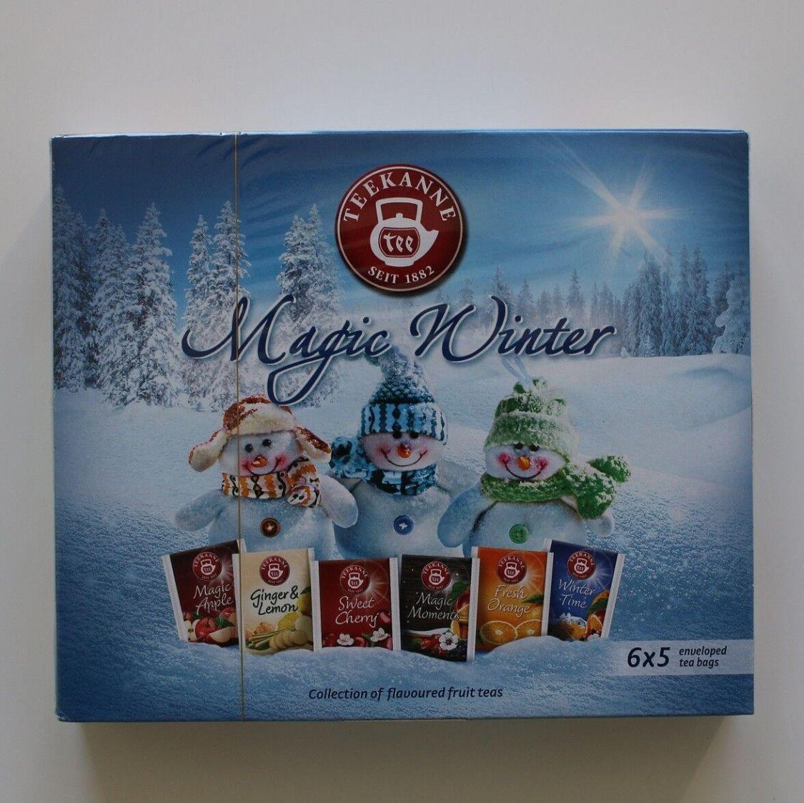 TEEKANNE Tee - Magic Winter Tea 30 Teebeutel Früchtetee 6 Sorten in eine Box
