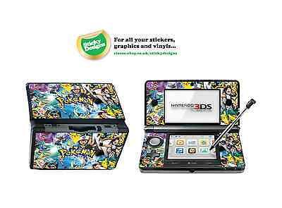 Pokémon Vinyl Skin Aufkleber für Nintendo 3DS