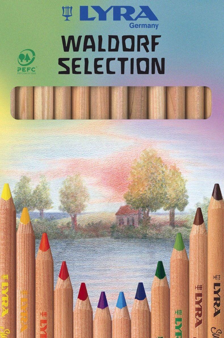12 Lyra Waldorf Buntstift Farbstift Malstift Super Ferby Jumbo Natur Selection