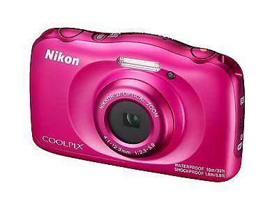 Wasserdichte Kompaktkamera Nikon COOLPIX W100 PINK mit 13,2 MP und 3x Zoom