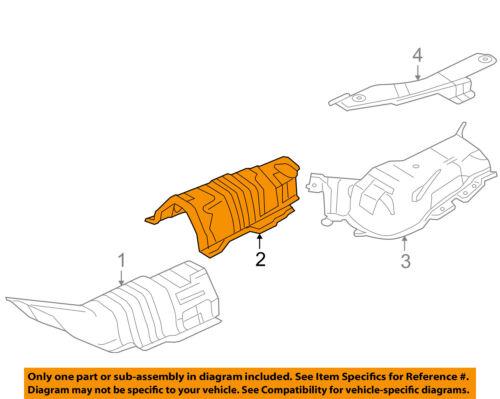 details about mazda oem 04 09 3 2 3l l4 heat shields exhaust center shield bp4k56441f