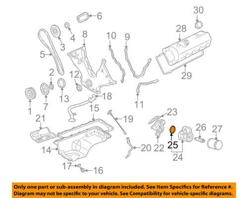 FORD OEM 0304 Mustang 46LV8 EngineOil Cooler Gasket