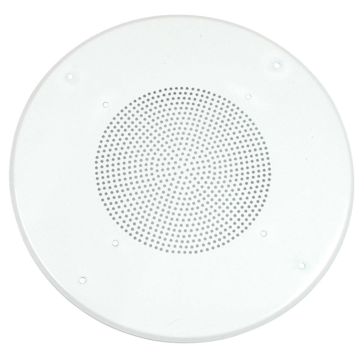 White Round Commercial Ceiling Speaker Grill For 8