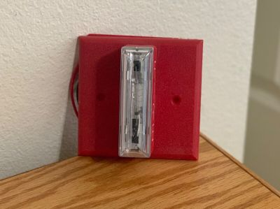 Gentex GXS-4-15/75WR Fire Alarm Remote Strobe Wall Red w/Mounting Plate