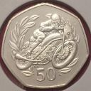 1999 Isle of Man IOM TT Fifty Pence  50p Coin RARE UNCirculated