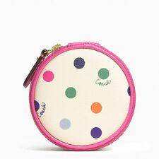 COACH MULTICOLOR DOT JEWELRY POUCH