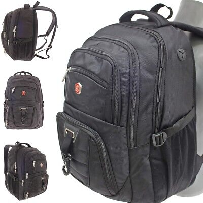 17 Zoll Notebooktasche Laptop-Tasche Rucksack Passend für bis zu 17 Zoll Schwarz