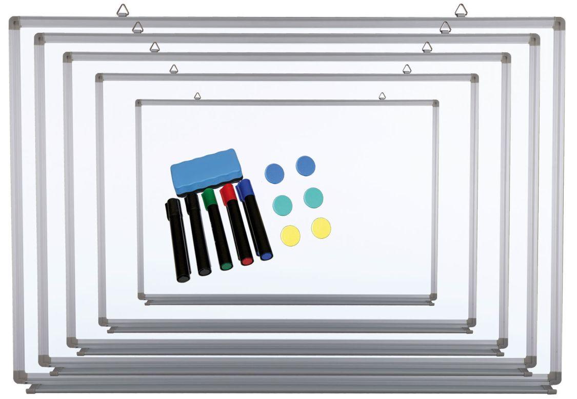 Whiteboard Magnettafel Schreibtafel, lackiert mit Clip, in 10 Größen & Zubehör