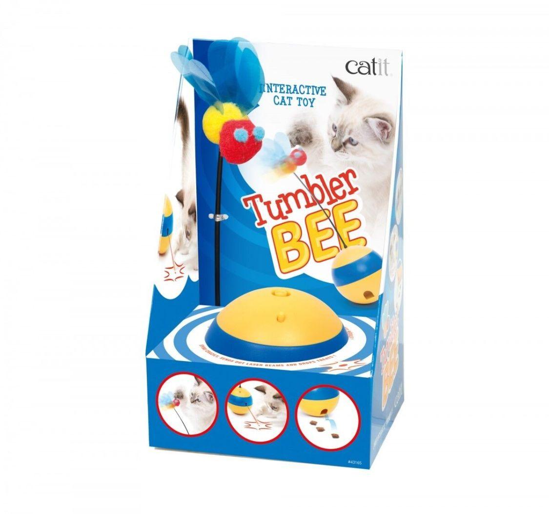 Catit Play Tumbler Bee Laser-Spielzeug, Interaktives Katzenspielzeug Art:43165