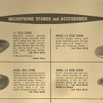 Vintage 1950's Turner C-4 microphone old stand / base Altec Shure Atlas # 3
