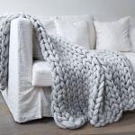 Handmade Giant Knit Throw Sofa Blanket Hand Woven Blanket Home Ebay
