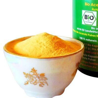 50 g Bio Acerola Pulver natürliches hochdosiertes Premium Vitamin C naturrein