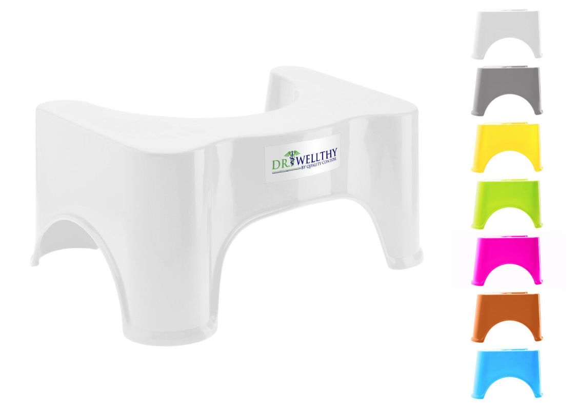 Dr Wellthy - Toilettenhocker Toilettenhilfe Tritthocker Toilettenstuhl WC farbig