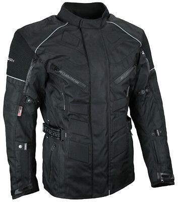 Herren Touren Motorradjacke Textil Heyberry schwarz Gr. M bis 7XL
