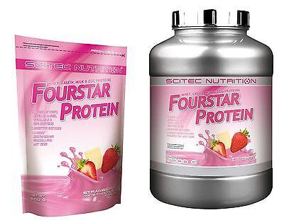 Fourstar Protein 500g 2000g Molke, Casein, Milch, Ei Protein Scitec Nutrition