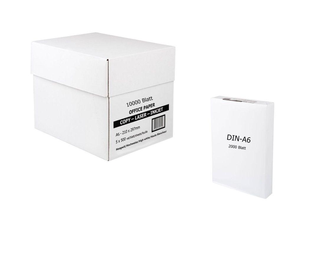 Marken Standard Kopierpapier 80g/m² DIN-A6 2000 Blatt 10000 Blatt Papier