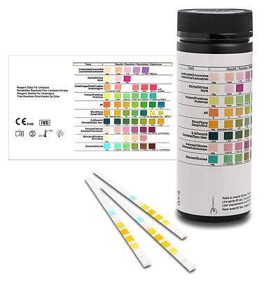 Urinteststreifen - 100 Urinanalysestreifen - Gesundheitstest 8 Indikatoren