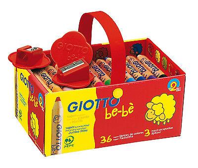 TOP! 6-12-36 Lyra Giotto be-bè  Buntstifte Farbstifte Maxi Jumbo inkl. Anspitzer
