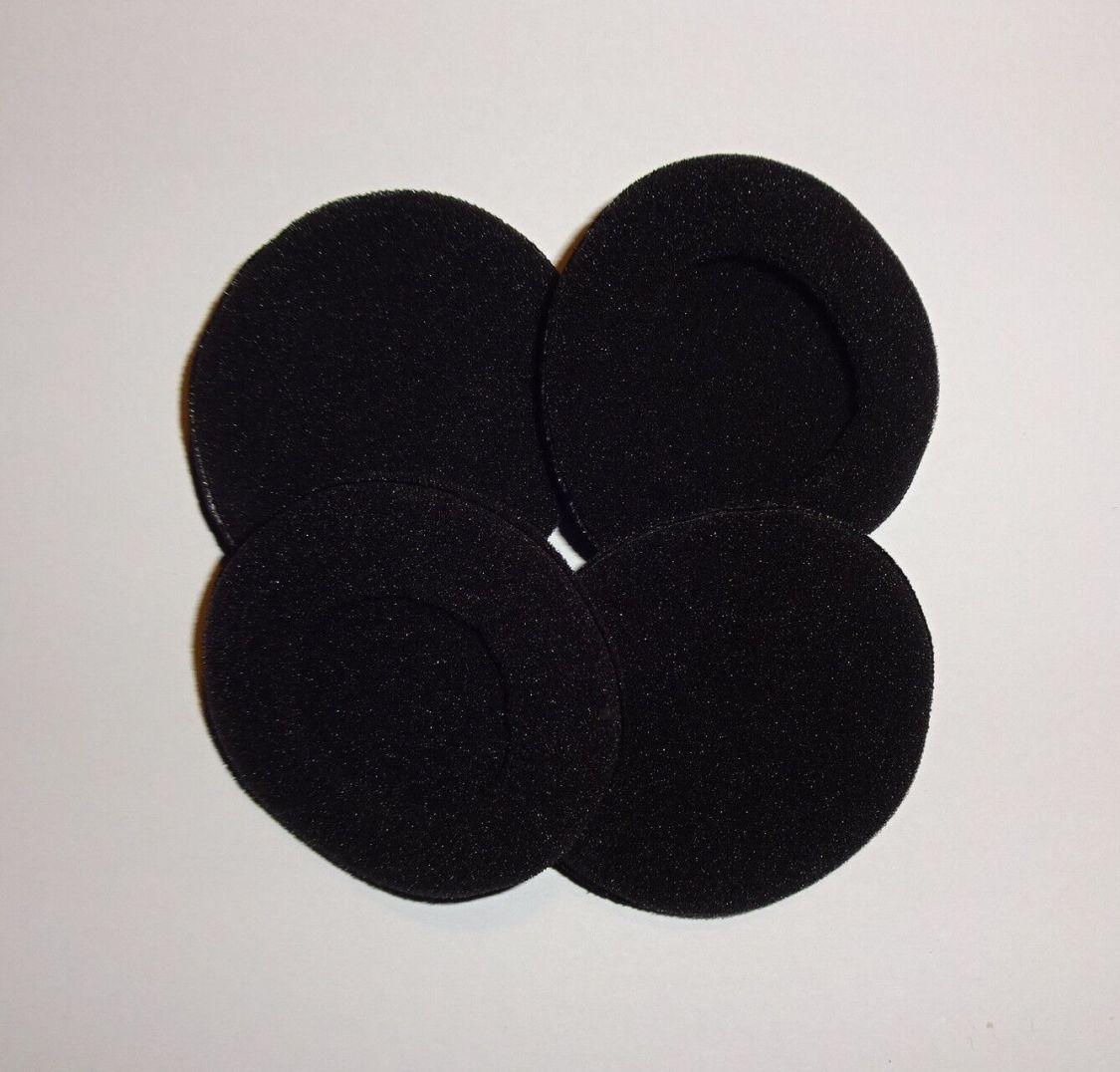2 Schaumstoff Ohrpolster für Headsets, div. Durchmesser (45-65 mm), schwarz