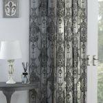 Black Lace Voile Elizabeth Lace Sheer Voile Net Curtain Slot Top Single Panel Ebay