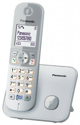 Panasonic Festnetztelefon Haustelefon Schnurlostelefon KX-TG6811GS, Silber