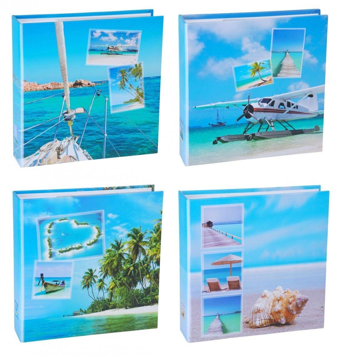 WELLGRO® Einsteckalbum 200 Fotos 10x15 Memoalbum Fotoalbum Slip-In Album Strand