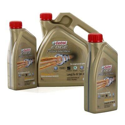 CASTROL EDGE Professional Motoröl Öl TITANIUM FST LongLife III 5W-30 - 6 Liter