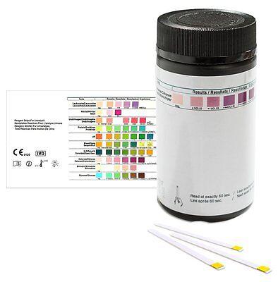 Keton Urinteststreifen - 100 Urinanalysestreifen zur Bestimmung v. Keton im Urin