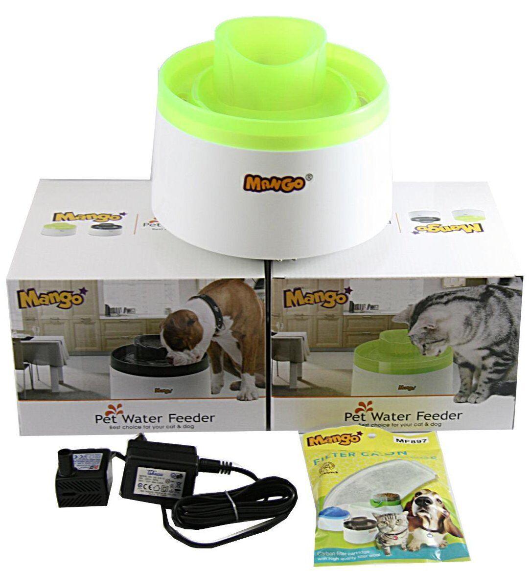 Trinkbrunnen Mango Cascade Hunde Katzen Wasserspender Wasserbrunnen Ersatzfilter