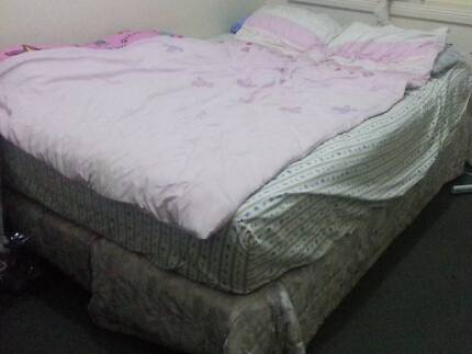 Used Queen Size Mattresses Plus Bed Frame In Good Condition